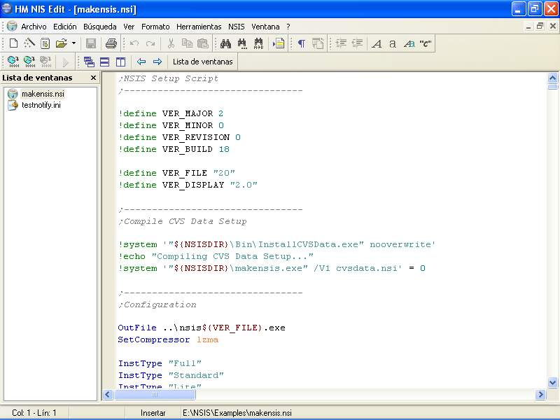 HM NIS Edit: A Free NSIS Editor/IDE